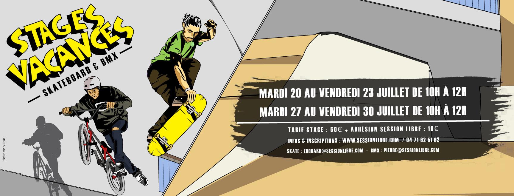 STAGES VACANCES ÉTÉ 2021 (Skate / BMX)