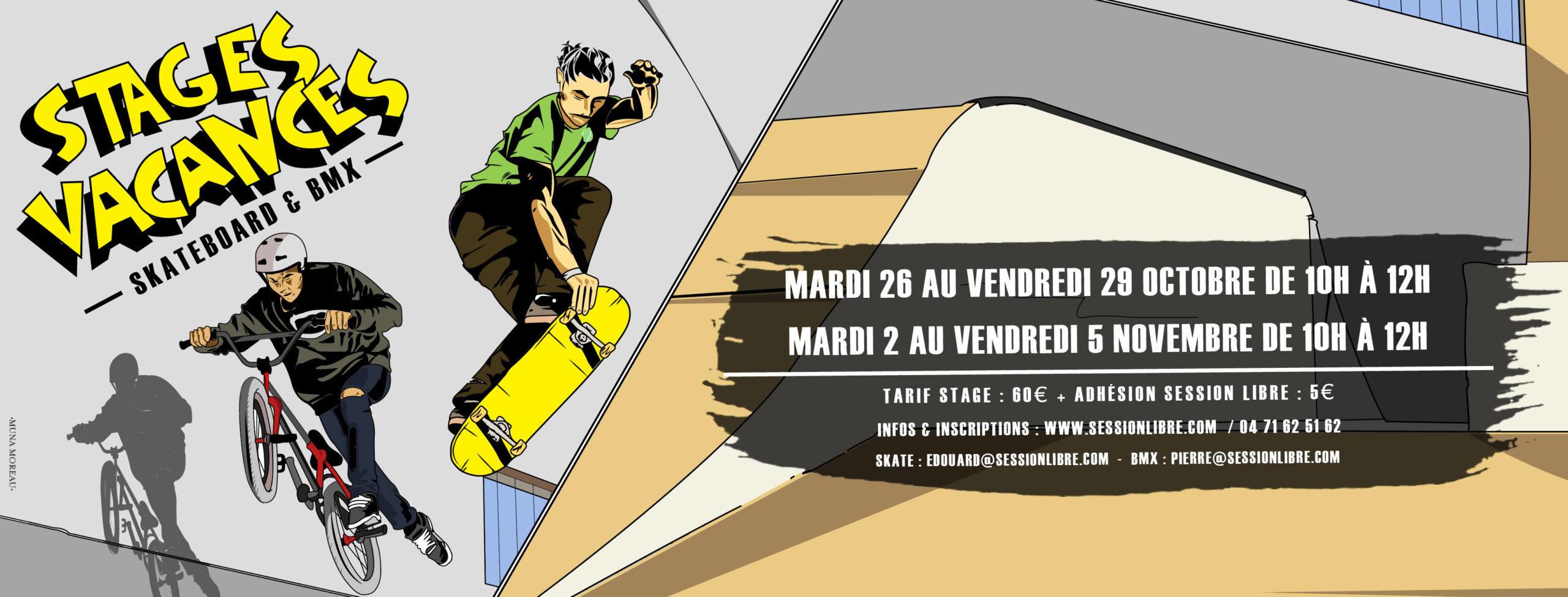 Stages Vacances d'automne (Skate / BMX)